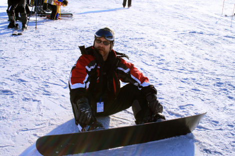 Me on the snowboard